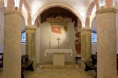 Krypta des Duomo von Spilimbergo Lizenzfreie Stockbilder