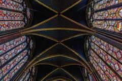 Krypta kaplica Sainte-Chapelle zdjęcie royalty free