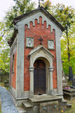 Krypta på den Lychakiv kyrkogården Arkivfoton