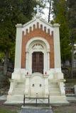 Krypta på den Lychakiv kyrkogården Arkivbilder