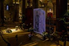 Kryptan i domkyrkan av den Monaco domkyrkan Royaltyfri Bild