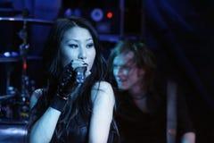 KRYPTERIA - Cantante Ji-En Foto de archivo libre de regalías