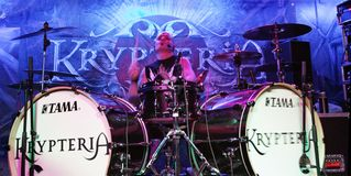 KRYPTERIA - Drummer Royalty Free Stock Image