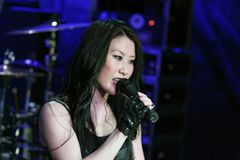 KRYPTERIA - Sänger Ji-In Lizenzfreie Stockfotografie