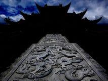 Kryptisk kloster nära Dali, Yunnan Royaltyfria Bilder