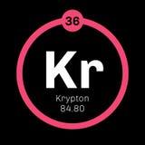 Krypton chemical element Royalty Free Stock Photo