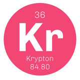 Krypton chemical element Stock Images