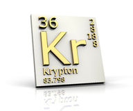 Krypton form Periodic Table of Elements Stock Photo