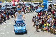 Krys有蓬卡车在阿尔卑斯-环法自行车赛2015年 库存图片