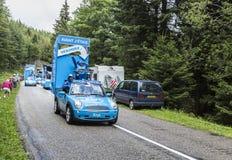 Krys有蓬卡车-环法自行车赛2014年 库存照片