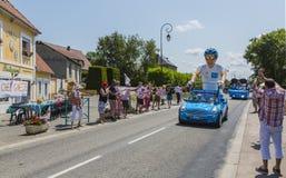 Krys Caravan - Tour de France 2015. Sainte Marguerite sur Mer, France - July 09, 2015: Krys Caravan during the passing of Publicity Caravan before the stage 6 of stock photography