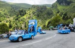 Krys husvagnTour de France 2014 Arkivfoto