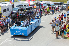 Krys Vehicle in Alps - Tour de France 2015 Royalty Free Stock Image