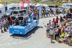 Krys Vehicle in den Alpen - Tour de France 2015 Stockbild