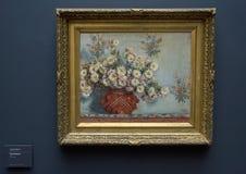 Krysantemum vid Claude Monet, 1878 Arkivbild