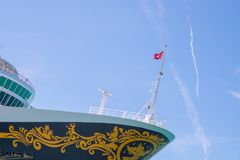 Kryssa omkring eyelinerDisney magi på Key West, Florida Royaltyfria Foton