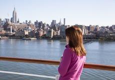 Kryssa omkring i New York Royaltyfria Bilder