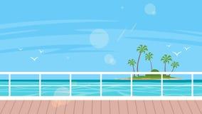 Kryssning-, lopp- och turismbegrepp vektor illustrationer