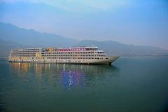 Kryssning på Yangtzet River Royaltyfria Bilder