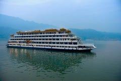 Kryssning på Yangtzet River Arkivfoto