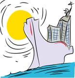 Kryssning-skepp royaltyfri illustrationer