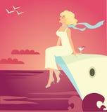 kryssningship stock illustrationer