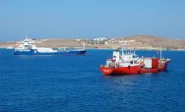 Kryssningskepp i havet Arkivfoto