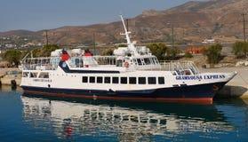 Kryssningskepp, loppKreta, Grekland Arkivbild