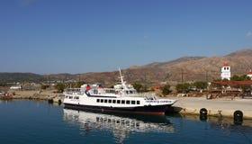 Kryssningskepp, loppKreta, Grekland Arkivbilder