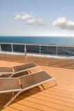 Kryssningskepp på havet Fotografering för Bildbyråer