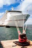 Kryssningskepp som anslutas i Key West, Florida Arkivfoto