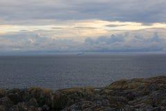Kryssningskepp som ut heading in i Nordsjön Royaltyfria Bilder