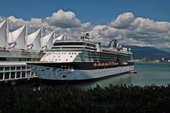 Kryssningskepp, Vancouver F. KR. Kanada Royaltyfria Bilder