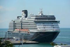 Kryssningskepp Zuiderdam i Key West Royaltyfri Fotografi