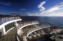 Kryssningskeppet Marco Polo att närma sig uddehornet, Antarktis Arkivfoton