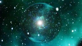 Krystaliczna bąbel piłka odbija gwiazdy pętlę ilustracji