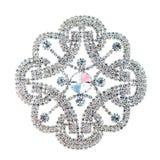 Krystaliczna broszka Obrazy Royalty Free