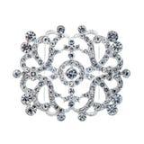Krystaliczna broszka na bielu Zdjęcia Royalty Free