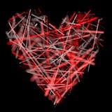 krystaliczna czerwony serca Obrazy Royalty Free