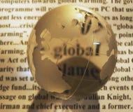 krystaliczna globe gazety Zdjęcie Stock