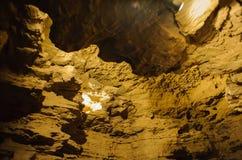 Krystaliczna jama horyzontalna Fotografia Royalty Free
