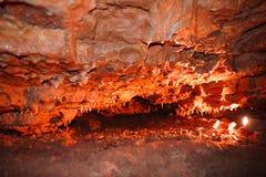Krystaliczna jama horyzontalna Zdjęcia Stock