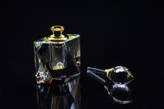 Krystaliczna pachnidło butelka Obrazy Royalty Free