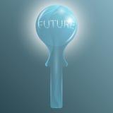 Krystaliczna szklana piłka dla przyszłościowej przepowiedni ilustracja wektor
