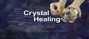 Krystaliczna terapii słowa chmura obrazy royalty free