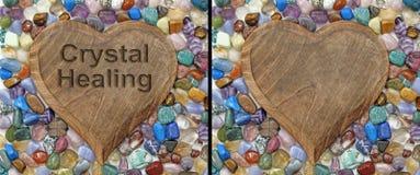 Krystalicznego gojenia plakieta zdjęcie stock