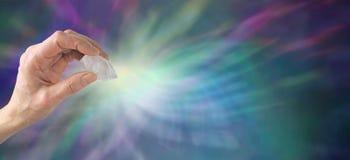 Krystalicznego gojenia strony internetowej sztandar Fotografia Royalty Free