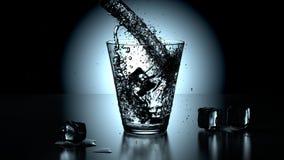 krystalicznego szkła czysta woda Obrazy Stock