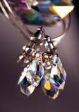 krystaliczni kolczyki Zdjęcia Royalty Free