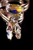 krystaliczni kolczyki Obrazy Stock